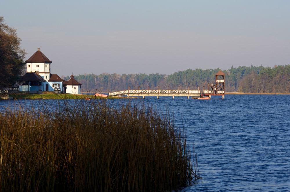 Skocznia - molo, most w Olecku